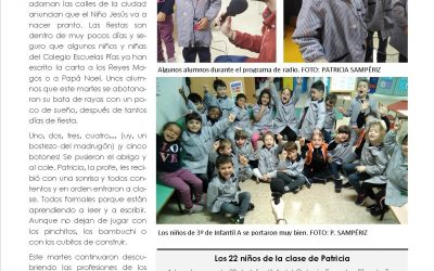 Los niños de Escuelas Pías juegan a ser periodistas
