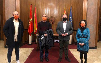 Recibimiento en el Ayuntamiento de Zaragoza
